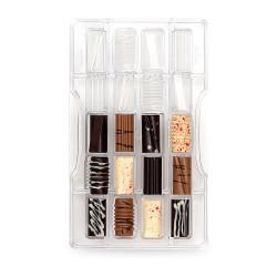 Halvcylinder (20 st), chokladform i hård plast