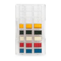 Lego (24 st), chokladform i hård plast