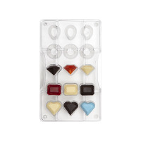 Juveler (15st), chokladform i hård plast