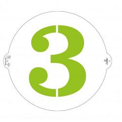 3, schablon