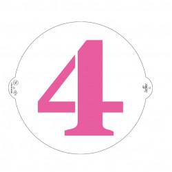 4, schablon