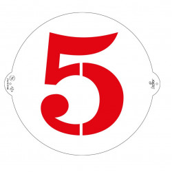 5, schablon