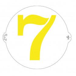 7, schablon