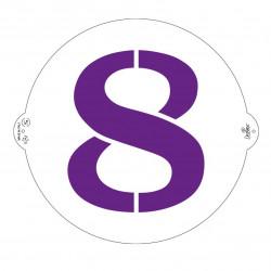 8, schablon