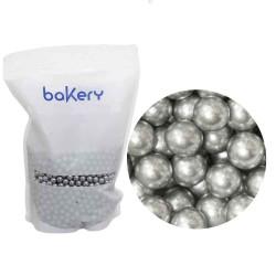 Silver sockerpärlor, 7 mm (1 kg)
