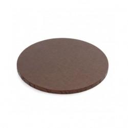 Brun, rund tårtbricka (ca 25 cm)