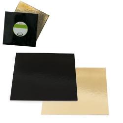 Kvadrat, svart/guld ca 24 cm