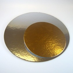 Silver/guldrondell, ca 40 cm (5 st)
