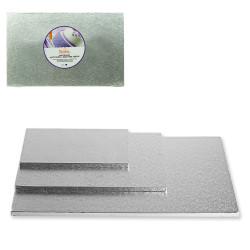Rektangel tårtbricka, silver 30 x 20 cm