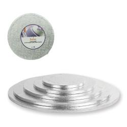 Rund tårtbricka, silver 18 cm (DEC)