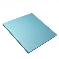 Ljusblå tårtbricka, kvadrat (ca 15 cm)