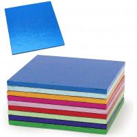 Blå tårtbricka, kvadrat (ca 15 cm)