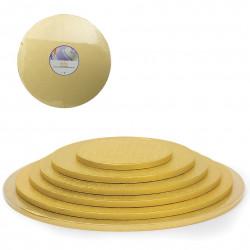 Guld, rund tårtbricka (ca 25 cm - Dec)