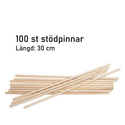 Stödpinnar i trä, 100 st