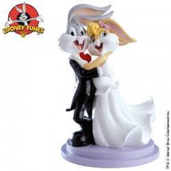 Bugs Bunny och Lola, dansande brudpar