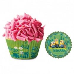Minions, 50 st gröna muffinsformar