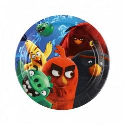Angry Birds, 8 st flerfärgade tallrikar