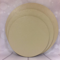 Rund tårtbricka, ivory 25 cm