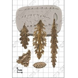 Dekorativa blad, silikonform