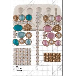 Jewel Clusters, silikonform