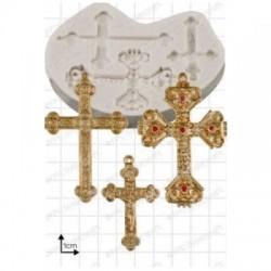 Kors (3 st), silikonform (FPC)