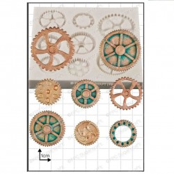 Steam Punk Cogs and Gears, silikonform
