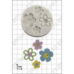 Blomknappar (4 st), silikonform