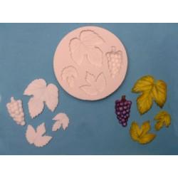 Vindruvor och blad, 4 olika