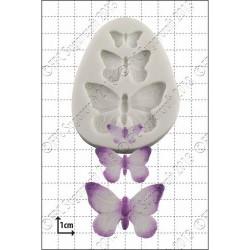 Fjärilar (3 st), silikonform
