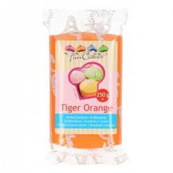 Sugarpaste m vaniljsmak, tiger orange 250g (Fun Cakes)