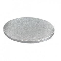 Rund tårtbricka, silver 50 cm (FC)