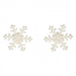 Snöflingor i sockerpasta, 6 st (silver)