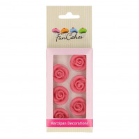 Marsipanrosor, 6 st rosa