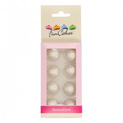 Silver, ätbara chokladbollar