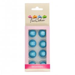 Blå, ätbara chokladbollar (Blue)