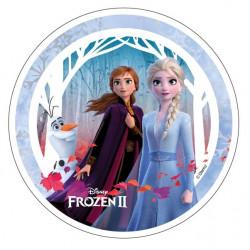 Frozen - Elsa, Anna och Olaf, oblatbild
