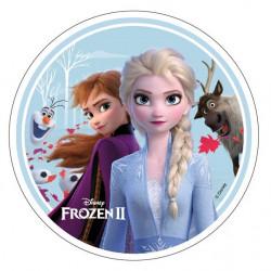 Frozen - Elsa, Anna, Olaf och Sven, oblatbild