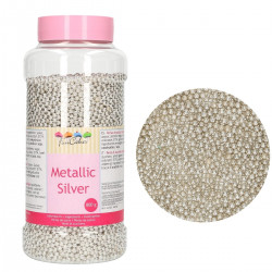 Metallic Silver (4 mm), 800g sockerpärlor