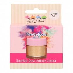 Glitter Gold, sparkle-pulverfärg (FC)