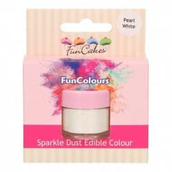 Pärlemovit sparkle-pulverfärg (Pearl White - FC)