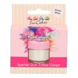Vit, sparkle-pulverfärg (Glitter White - FC)