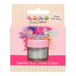 Glitter Dark Silver, sparkle-pulverfärg (FC)