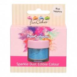 Blå, sparkle-pulverfärg (Blue Sapphire)