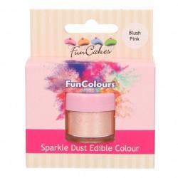 Blush Pink, sparkle-pulverfärg (FC)