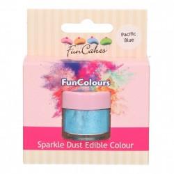 Blå, sparkle-pulverfärg (Pacific Blue - FC)