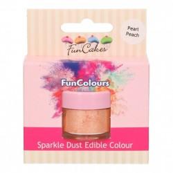 Orange, sparkle-pulverfärg (Pearl Peach - FC)