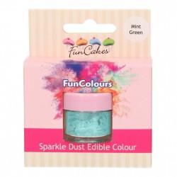Mint Green, sparkle-pulverfärg (FC)