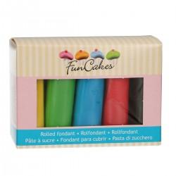 Sockerpasta - Basfärger, 5 X 100g