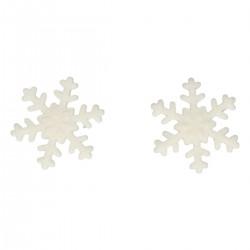 Snöflingor i sockerpasta, 6 st (vita)