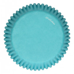 Blåa muffinsformar, 48 st (Turquoise)